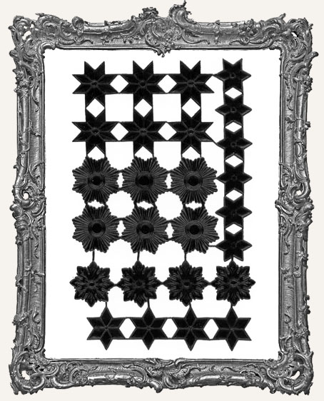 German Dresden BLACK Star Mix 26 Pieces