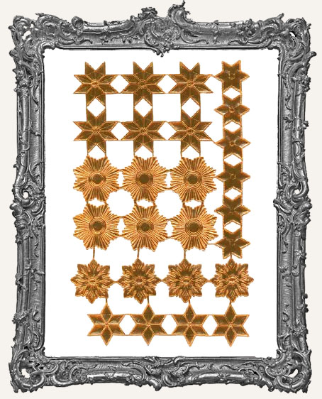 German Dresden COPPER Star Mix 26 Pieces