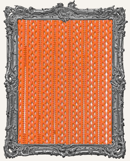 German Dresden Border Mini Scalloped ORANGE 16 Strips