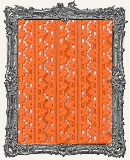 German Dresden Border Fleur ORANGE 10 Strips