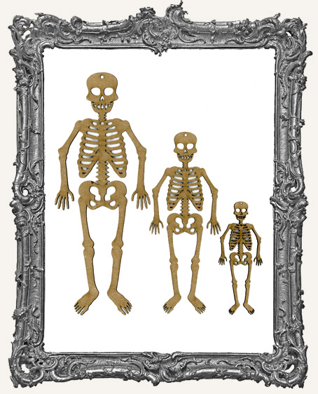 Chipboard Skeleton TAGS - Set of 3