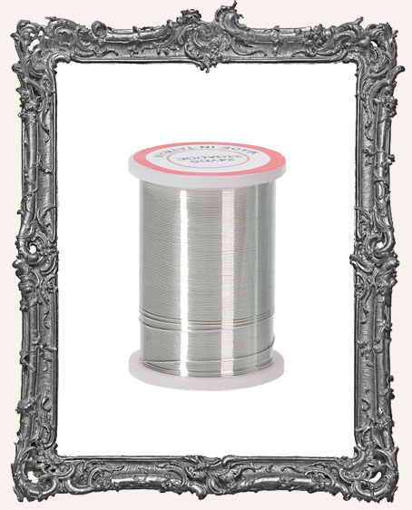 Silver Beading Wire 34 Gauge - 24 Yards