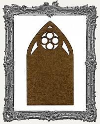 Mixed Media Creative Surface Board - Lace Quatrefoil Gothic Arch