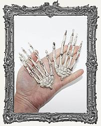 One Pair of Plastic Skeleton Hands