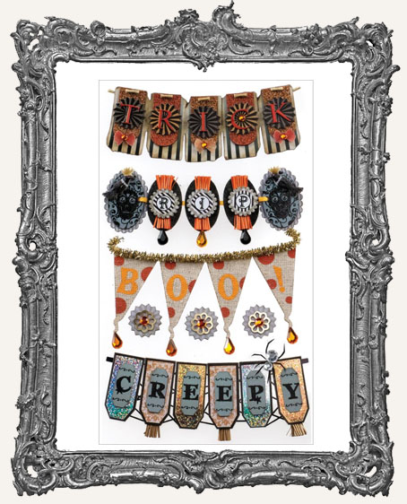 Halloween Banners Dimensional Embellishments - 7 Pieces