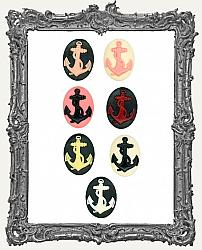30x40mm Resin Cameo - Anchor