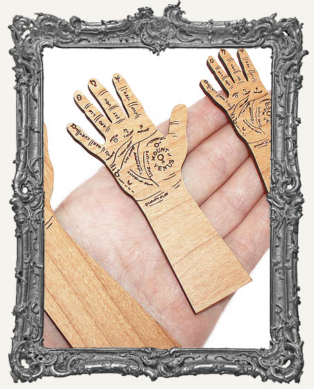 Palm Reading Arms Engraved Wood Cut Outs
