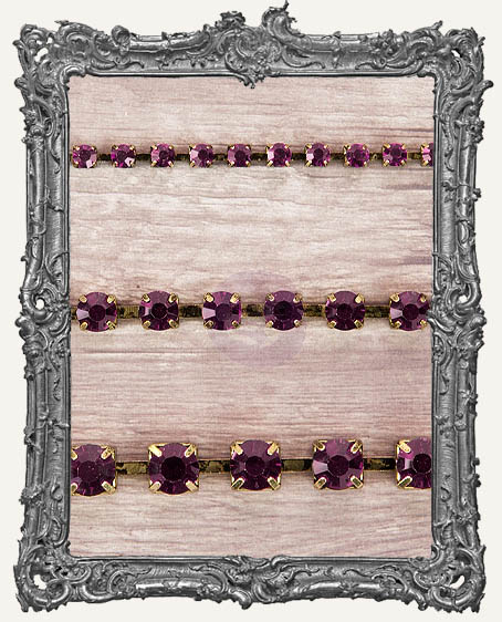 Sandra Evertson RELICS and ARTIFACTS - Rhinestone Chain Pack - Amethyst