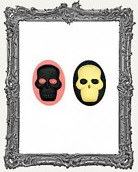 30x40mm Resin Cameo - Classic Skull