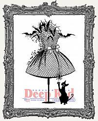 Halloween Dress Form Deep Red Cling Stamp