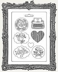 Stamperia Soft Maxi Mould MINI - Love Story Amor