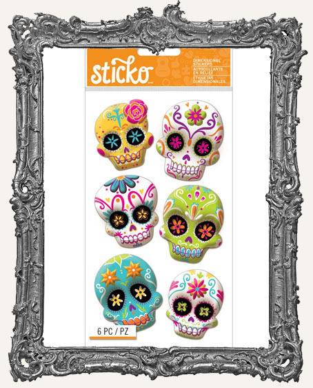 Sticko Halloween Stickers - Colorful Sugar Skull
