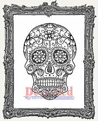 Sugar Skull Deep Red Cling Stamp