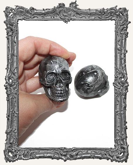Plastic 3D Skull - Black - 1 Piece