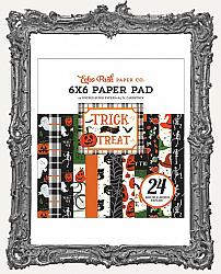 6X6 Echo Park Double Sided Cardstock Halloween Paper Pad - Trick or Treat