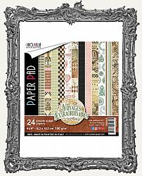 6X6 Ciao Bella Double Sided Steampunk Paper Pad - Voyages Extraordinaires