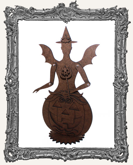 Articulated Victorian Pumpkin Art Doll Kit - MEDIUM - Jack-o-Lantern