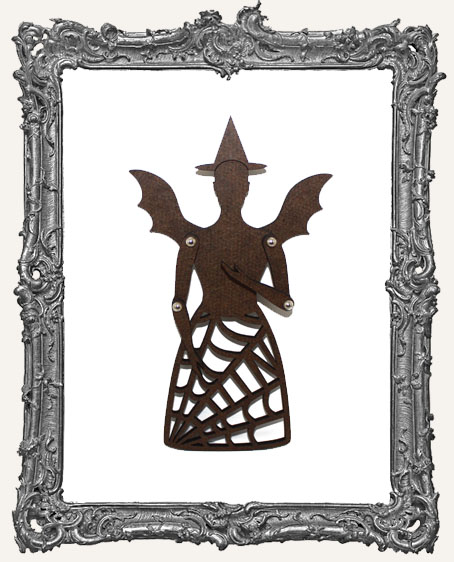 Articulated Victorian Halloween Witch Art Doll Kit - SMALL