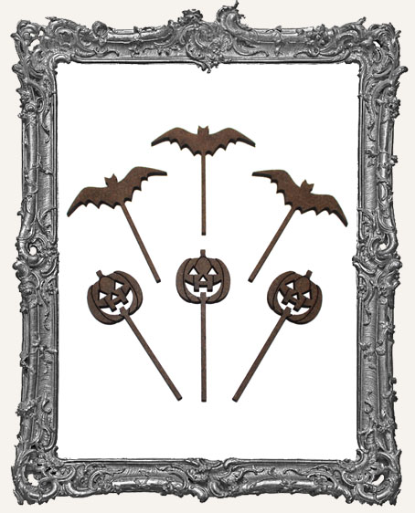 Witch Wands - 6 Pieces - Bats and Jack