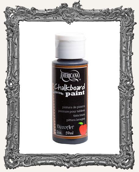 DISCONTINUE Decoart Americana Black Slate Chalkboard Paint 2oz
