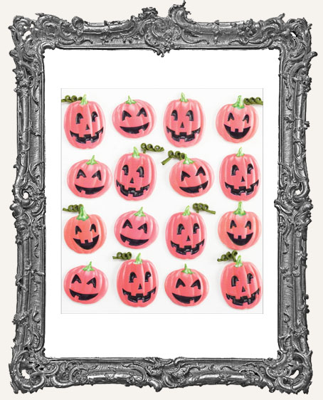 Jack O Lantern Pumpkin Dimensional Embellishments - 16 Pieces