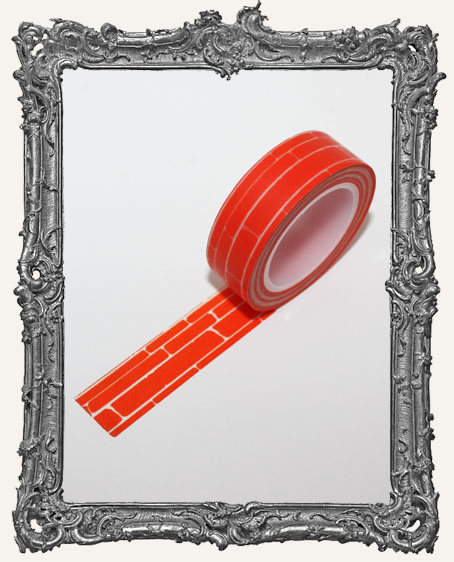 Washi Tape - Orange Brick
