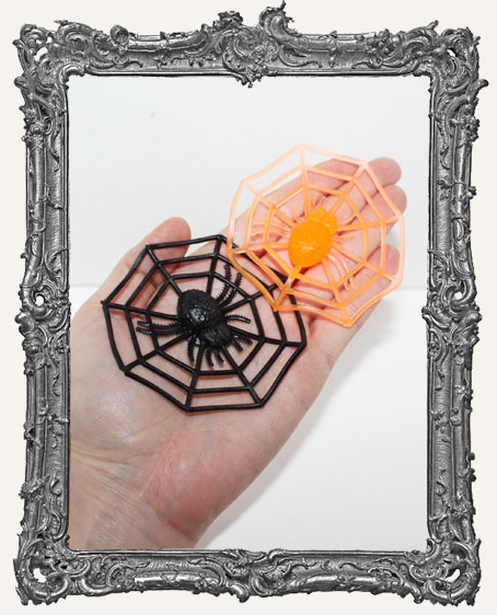 Large Rubber Spider Webs - Set of 2