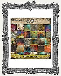Tim Holtz - Idea-ology - 2019 Halloween Mini Paper Stash 8x8 Double-Sided Paper Pad - Abandoned