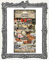 Tim Holtz - Idea-ology - 2019 Halloween Sticker Book - Curiosities