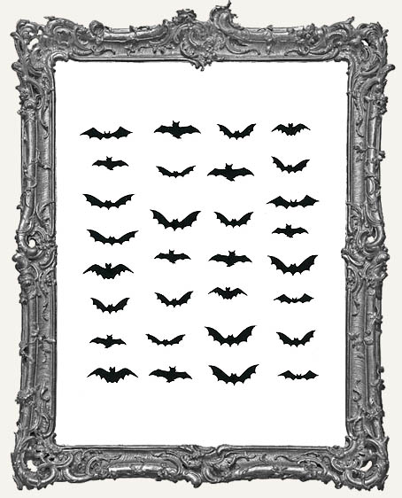 Mini Bat Cut-Outs - 30 Pieces