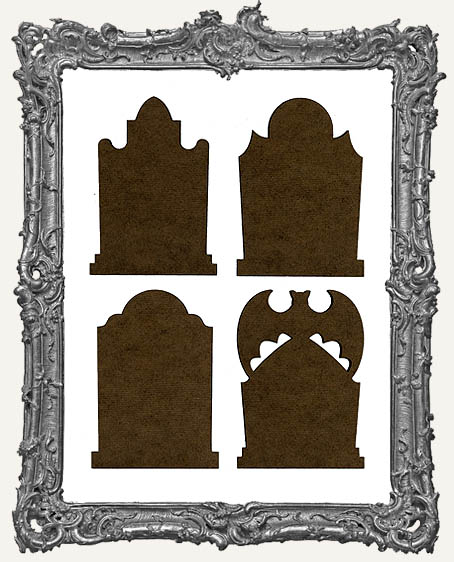 Gothic Tombstone ATC Bases V - Set of 4