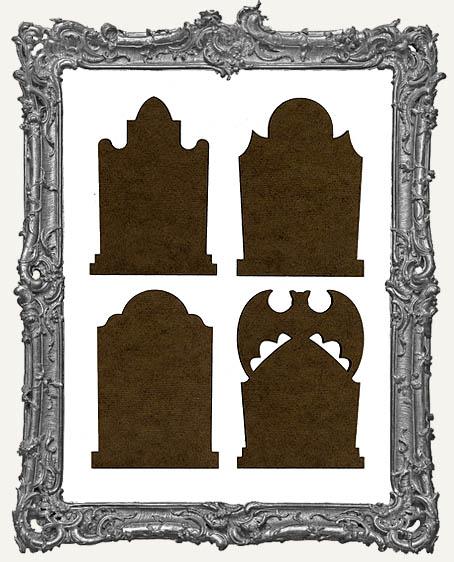 Gothic Tombstone ATC Bases V - Set of 4