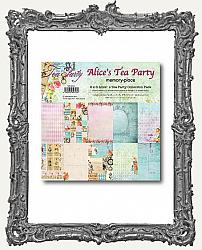Memory Place Alice in Wonderland Tea Party Collection - Double-Sided Paper Pad 6X6