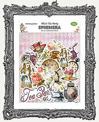 Memory Place Alice in Wonderland Tea Party Collection - Die Cut Ephemera Pack