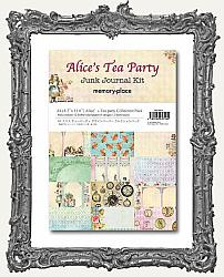 Memory Place Alice in Wonderland Tea Party Collection - A4 Junk Journal Paper Kit