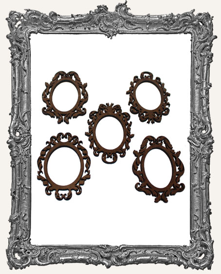 Mini Baroque Frame Cut-Outs - 5 Pieces