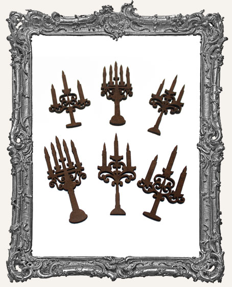 Candelabra Cut-Outs - 6 Pieces