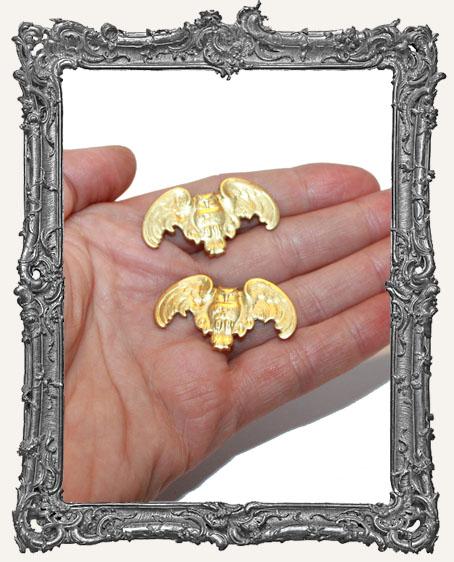 Brass Fancy Owls - Set of 2