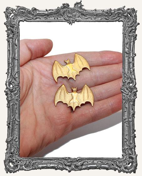 Brass Fancy Bats - Set of 2