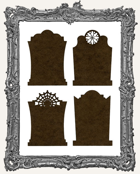 Gothic Tombstone ATC Bases III - Set of 4