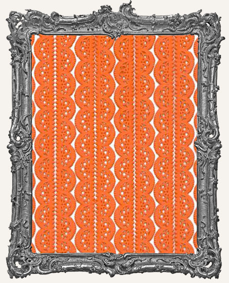 German Dresden Border Fancy Scalloped ORANGE 10 Strips