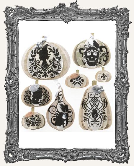 Silhouette Pumpkins Dimensional Embellishments - 8 Pieces