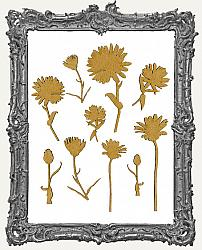 Chipboard Wild Daisy Cut-Outs - 10 Pieces