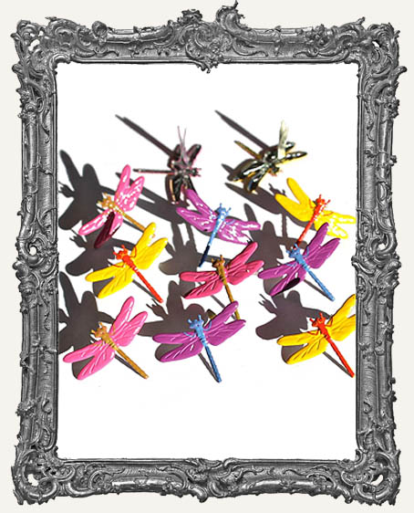 Bright Dragonfly Brads - 12 Piece