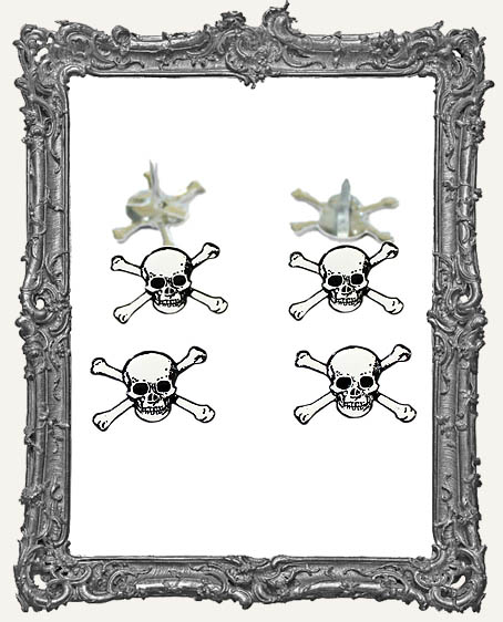 Skull and Crossbones Brads - 12 Piece
