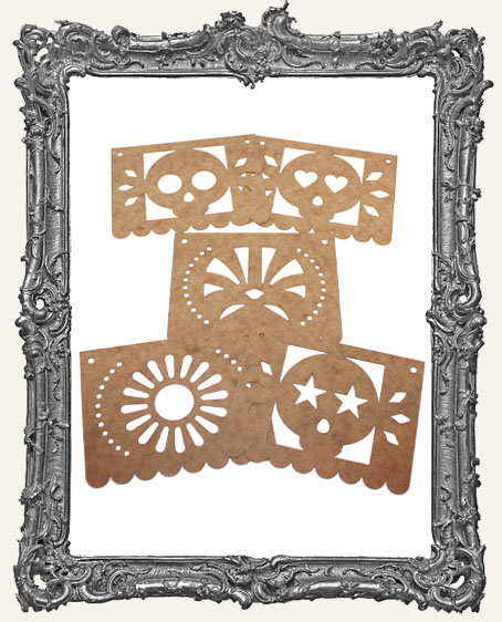 Papel Picado Banners Style 1 - Set of 5