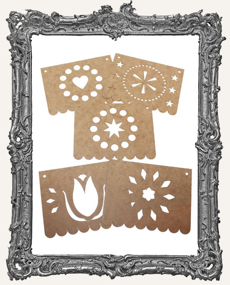 Papel Picado Banners Style 2 - Set of 5