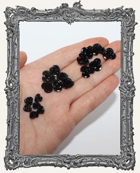 Mini Metal Roses Set of 6 - Black