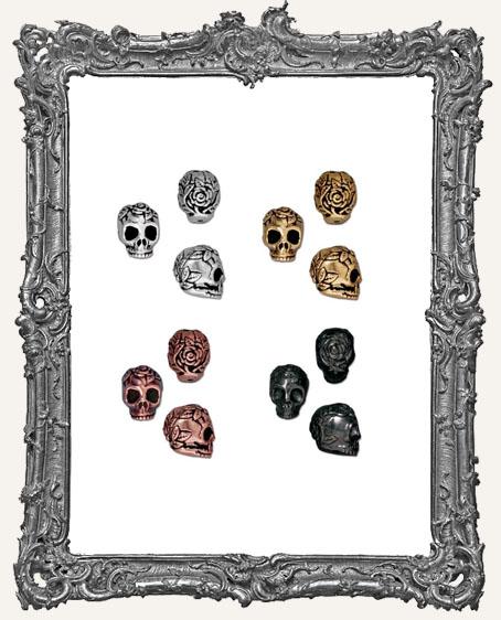 Rose Skull Beads