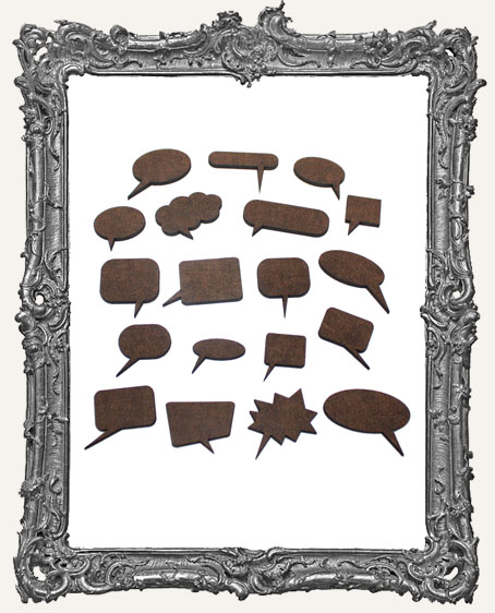 Word Bubble Cut-Outs - 19 Pieces